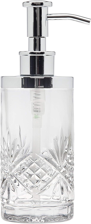 Godinger Lotion and Soap Dispenser Pump Bathroom Vanity - Dublin Crystal Collection: Home & Kitchen