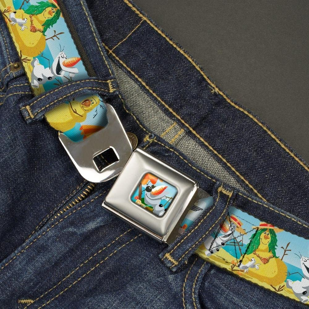 Buckle-Down Seatbelt Belt 1.0 Wide 20-36 Inches in Length Olaf Summertime Beach Scenes