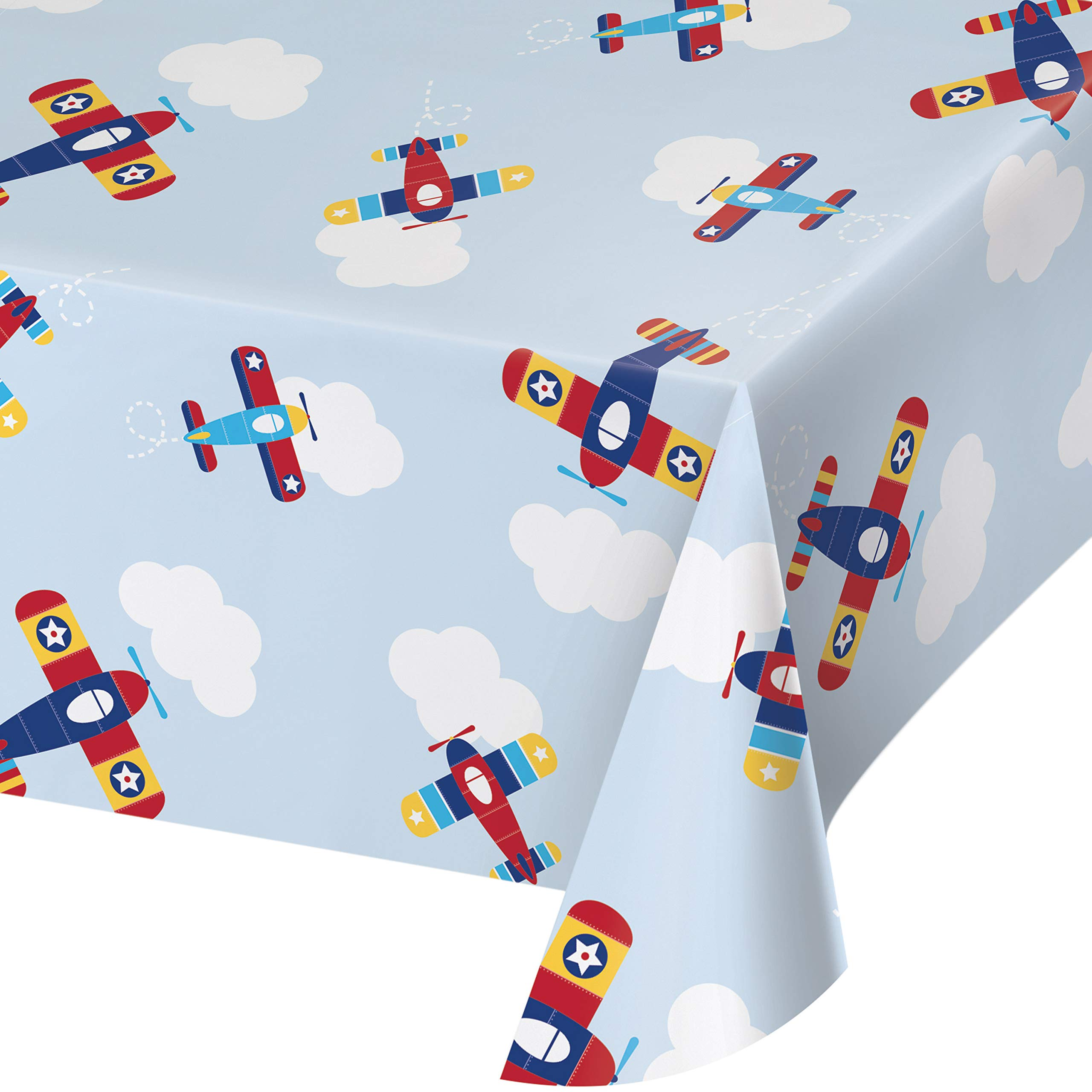 Toy Airplane Plastic Tablecloths, 3 ct by Creative Converting