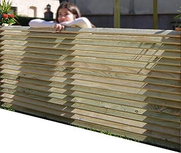 AD servicios Panel de Madera Separador para Vallas o techos, de Madera tratada 160x90 cm: Amazon.es: Jardín