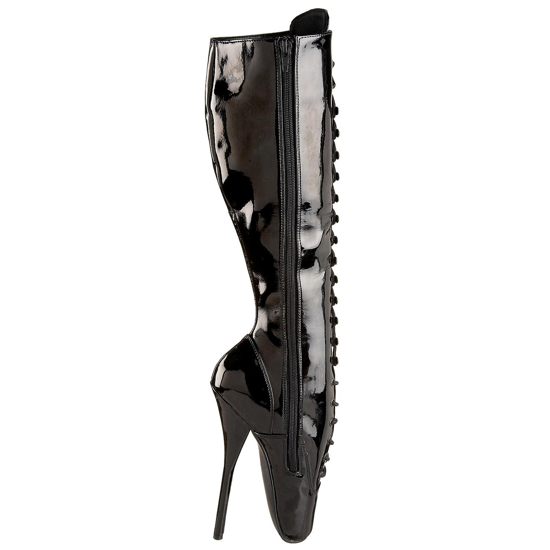 Pleaser Women's Ballet-2020 Knee-High Boot B000XUP138 14 B(M) US|Black Patent