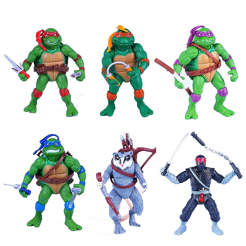 6x Las Tortugas Ninja figuras Donatello Raphael Michelangelo ...