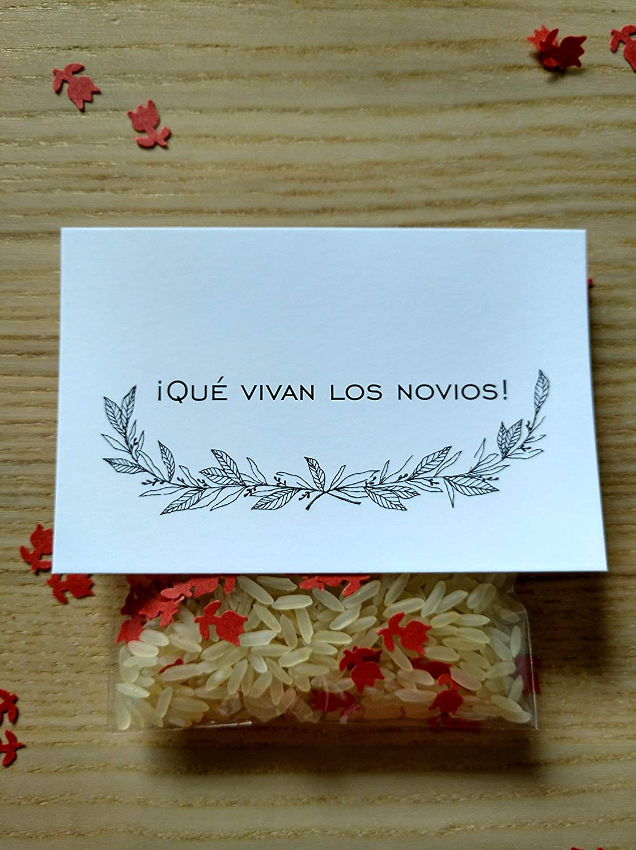 Bolsas de arroz y confeti modelo floral para bodas (Pack de ...