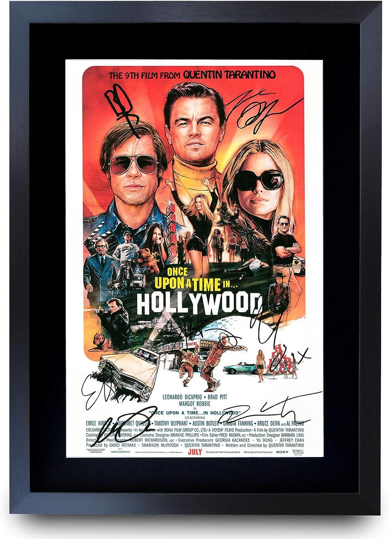 A3 incorniciato Poster Stampato con autografo per i Fan del Film HWC Trading A3 FR Bohemian Rhapsody The Cast Rami Malek Ben Hardy Gifts