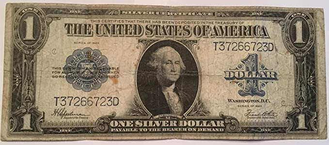 Amazon.com: 1923 Large Note Silver Certificate Horse Blanket Bill ...