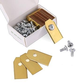 30x Titan Ersatz Messer 0,75mm Klingen Ersatzmesser mit 30 Schrauben Rasenmäher