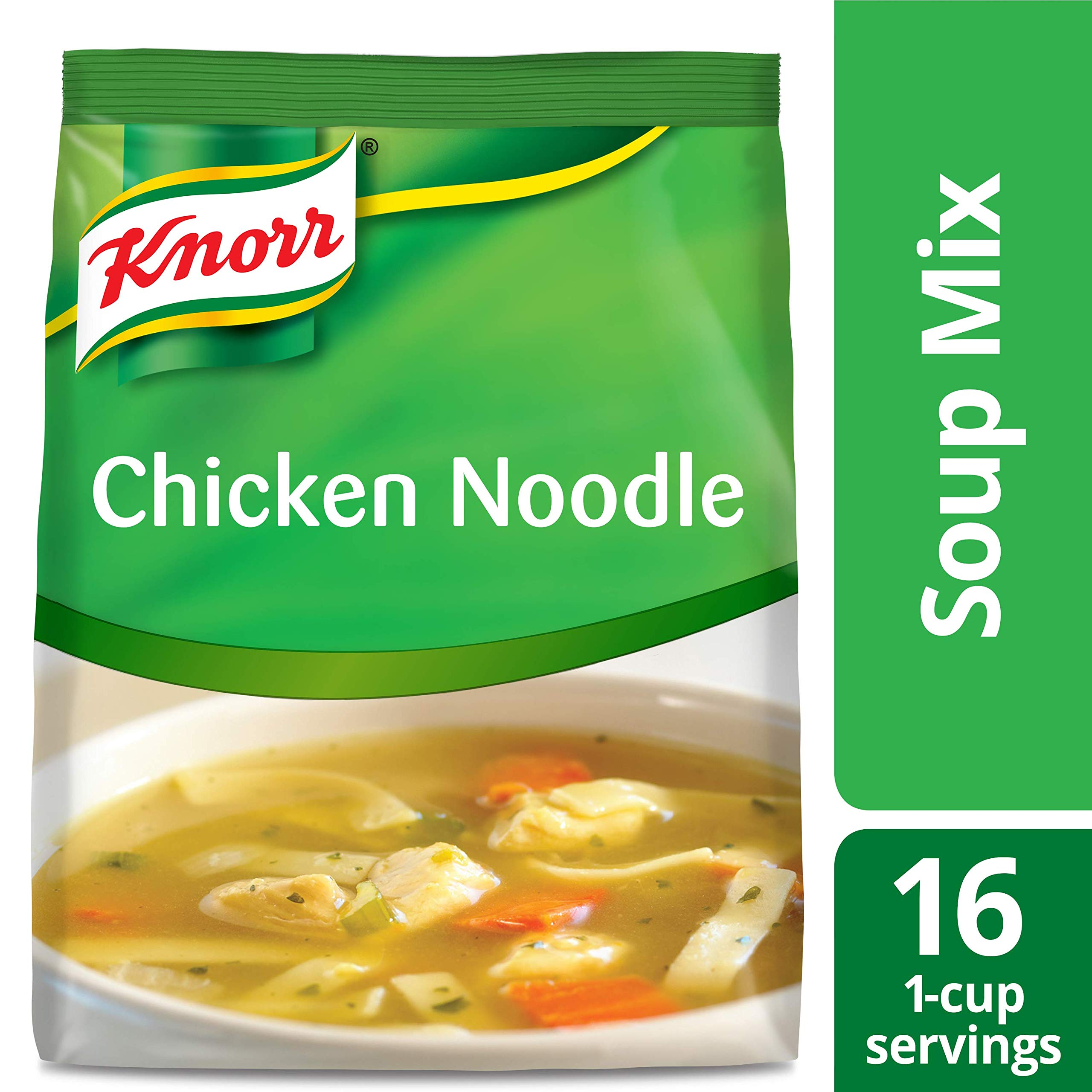 Knorr Professional Soup du Jour Chicken Noodle Soup Mix No added MSG, 0g Trans Fat per Serving, Just Add Water, 13.3 oz, Pack of 4 by Knorr