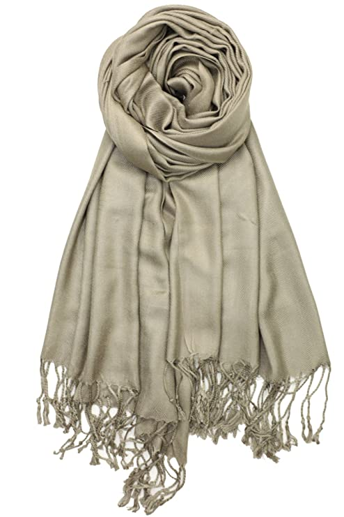 Achillea Soft Silky Pashmina Shawl Wrap Scarf in Solid Colors