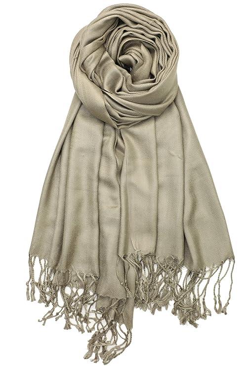 Achillea weiche seidige pashmina shawl Wrap Schal in festen Farben