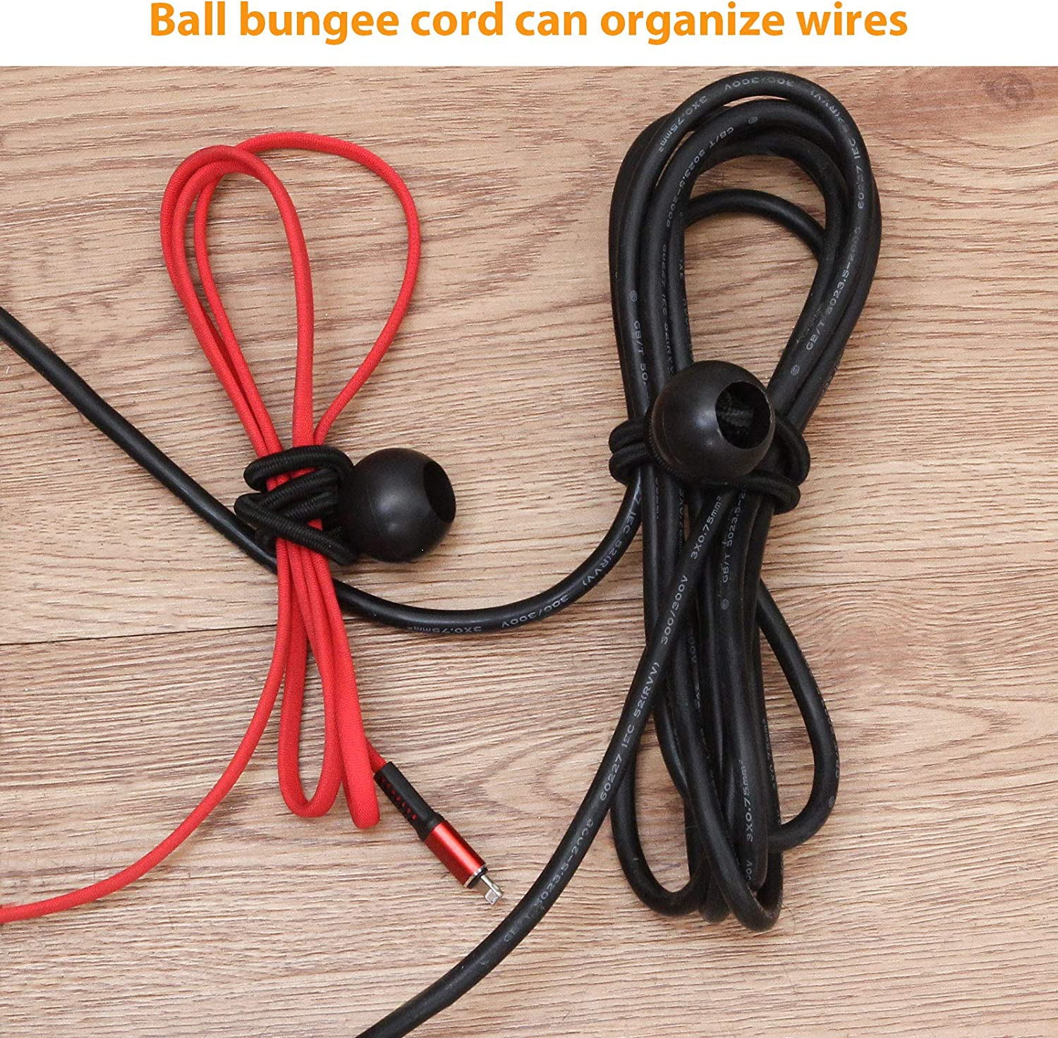 50 Pack 6 inch Ball Bungee Canopy Soccer Goals Bungee Cords with Balls Tarp Camping Childproofing Motor Homes Reusable Heavy Duty Tarp Bungee Cord for Projector Screen
