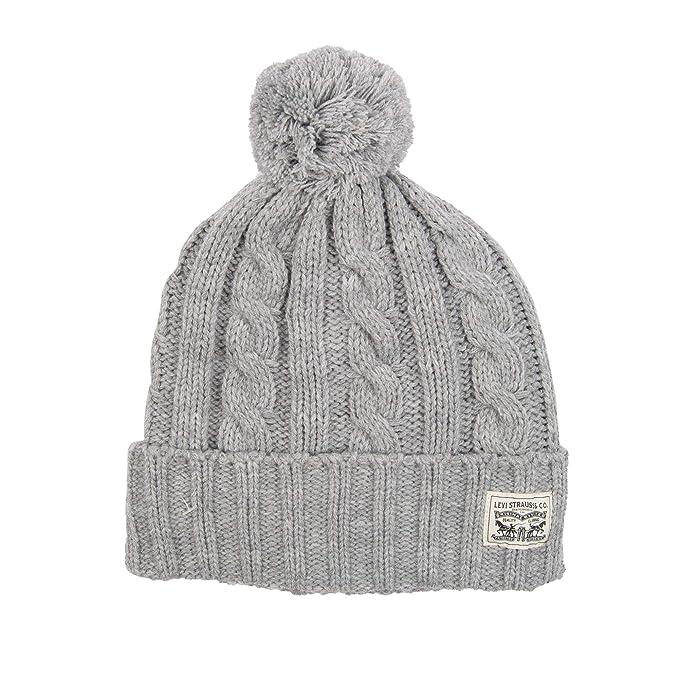 5dbf5ac6b7d Levi s Men s Pompom Cable Beanie Hat