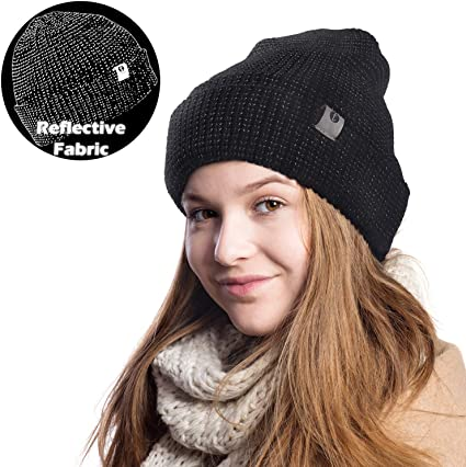 Reflective Kids Beanie Stylish Hat for Boys /& Girls