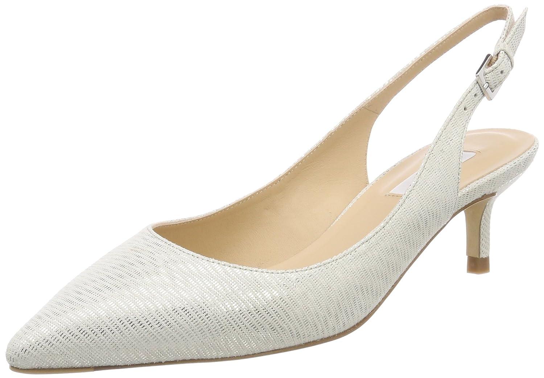 L.K. Bennett AVA, Zapatos de Talón Abierto para Mujer 40 EU|Plateado (Sil-silver)