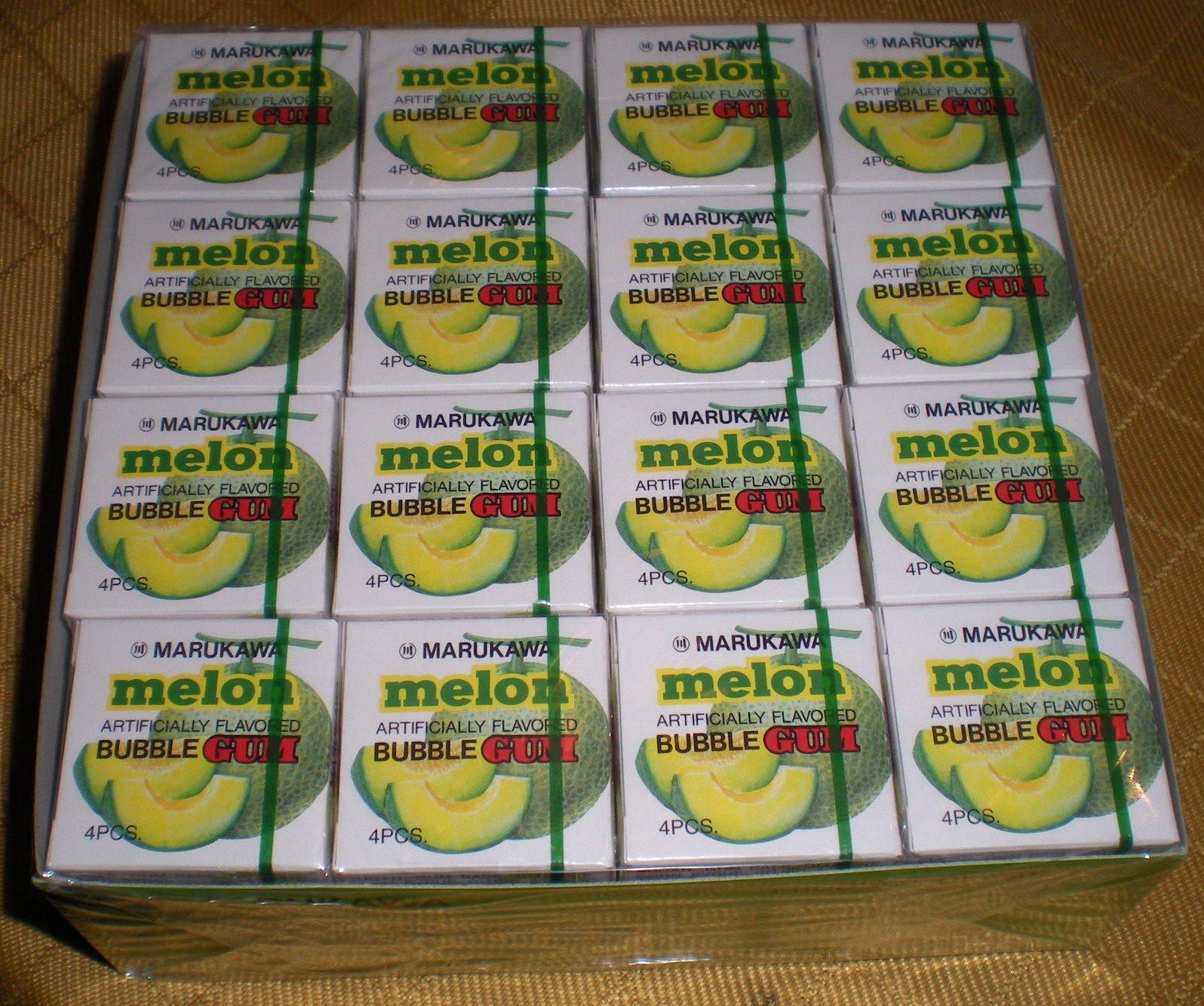 Authentic Japanese Marukawa Melon Flavored Fusen Gum 48 Packs