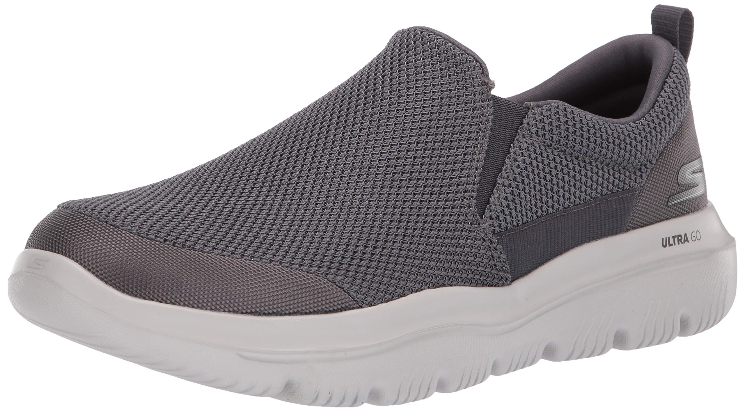 Skechers Men's GO Walk Evolution Ultra-Impeccable Sneaker, Charcoal, 11 Extra Wide US