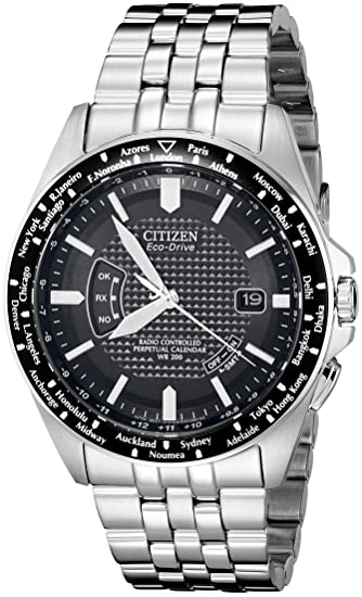 Citizen CB0020-50E - Reloj analógico de Cuarzo para Hombre, Correa de Acero Inoxidable Color Plateado: Amazon.es: Relojes