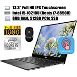 "2020 Newest Dell XPS 13 7390 Laptop 13.3"" Full HD IPS Touchscreen 10th Gen Intel Quad-Core i5-10210U (Beats i7-8550U) 8GB DDR"