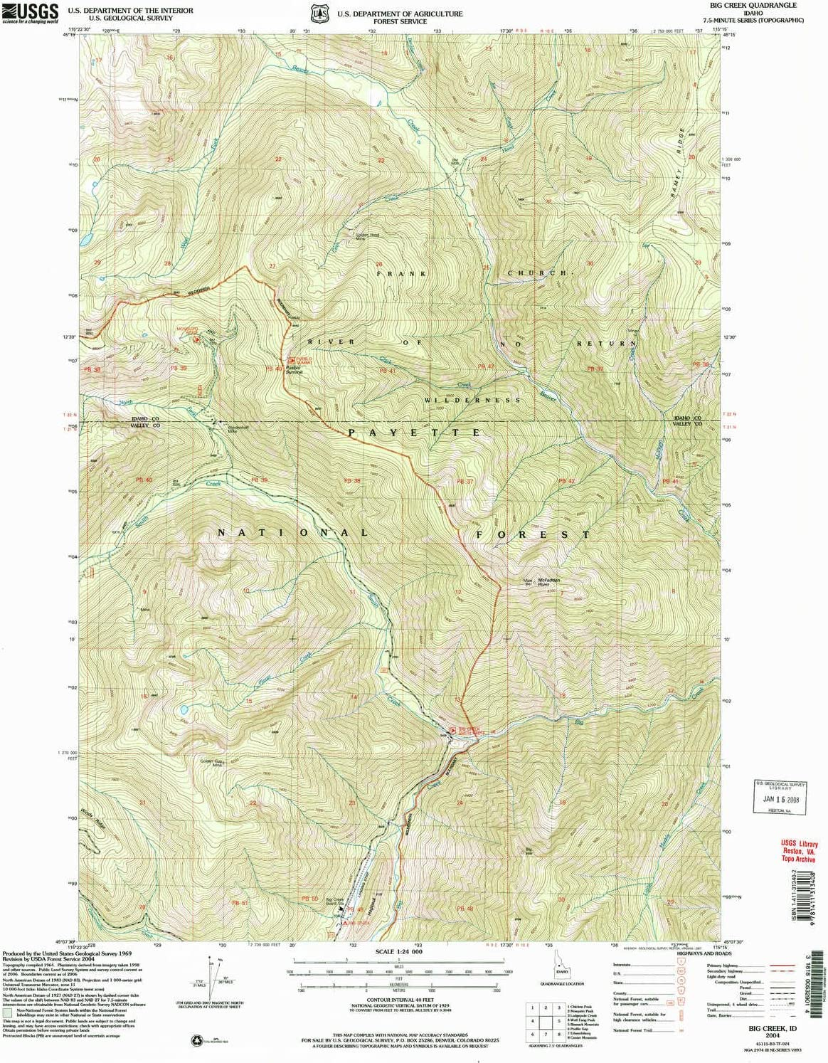 big creek idaho map Amazon Com Yellowmaps Big Creek Id Topo Map 1 24000 Scale 7 5 big creek idaho map