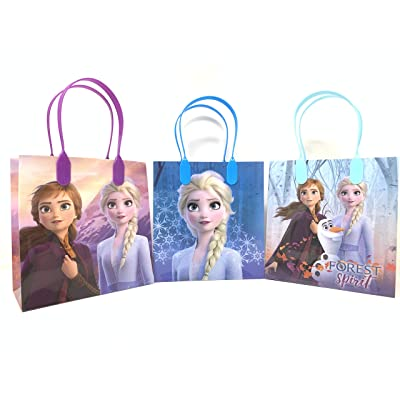 Disney Frozen 2 Party Favor Goodie Small Gift Bags 12: Toys & Games