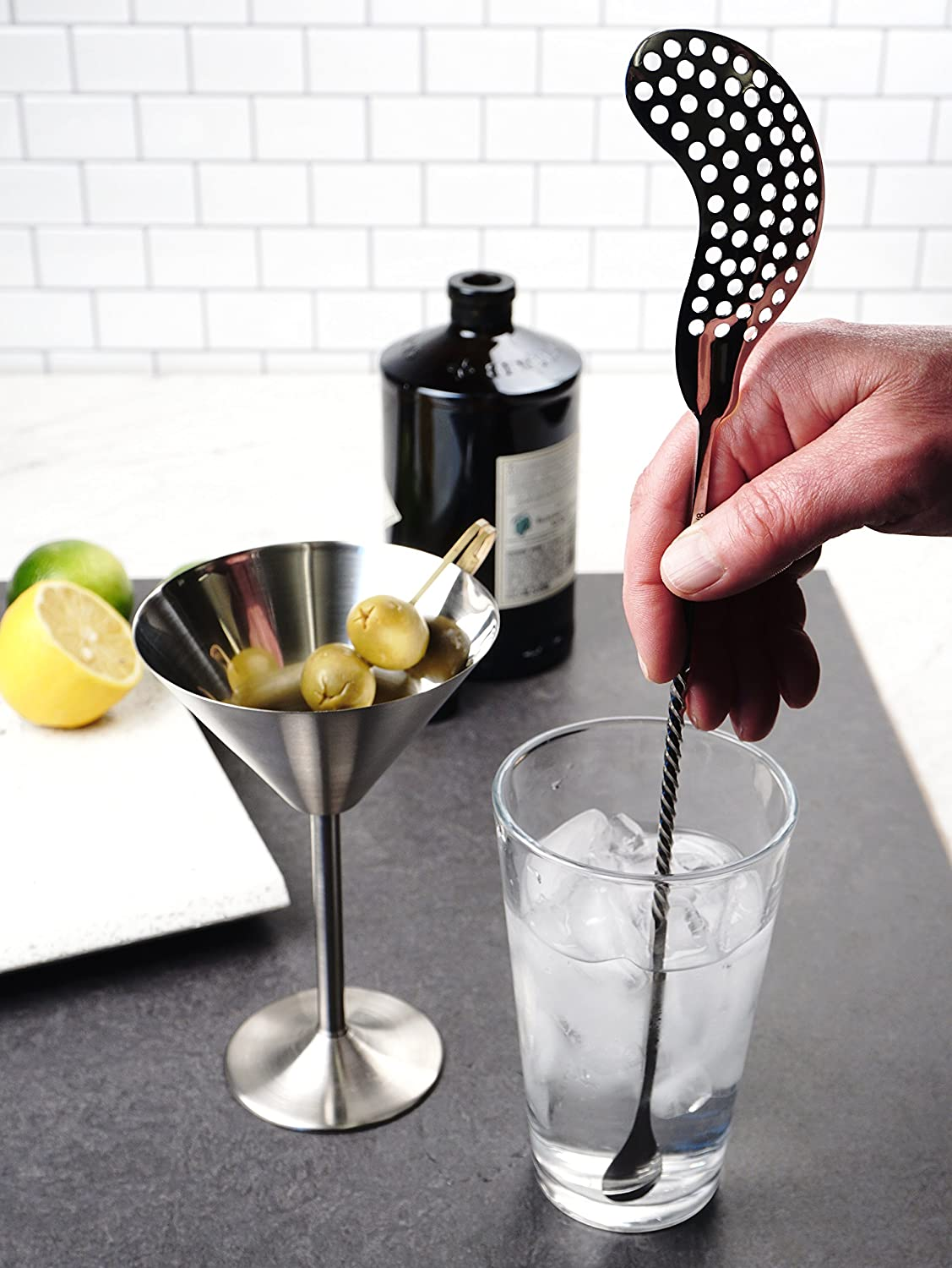 For Mojitos Great Addition to Bars /& Kitchens Cocktails /& More /& More Herbs Mash Fruits Stainless Steel Handling Cocktail Mojito Muddler Ice RSVP International Endurance MUDD Margaritas