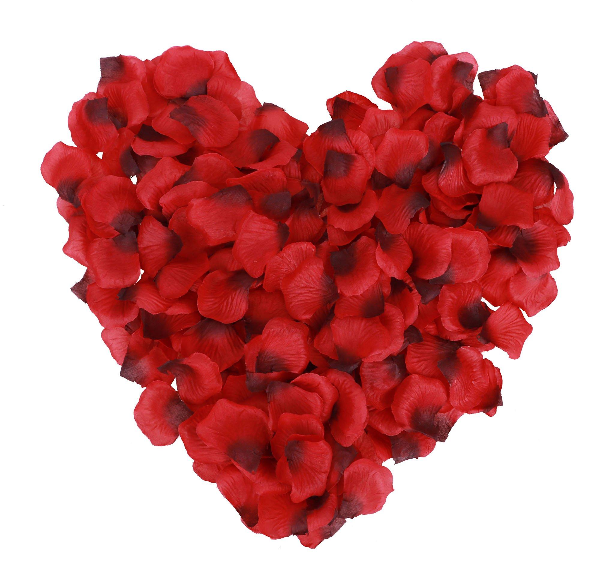 silk flower arrangements jasmine 1000 pieces seperated non-woven rose petals weddings rose petals for romantic night valentine flower deor,red/dark red