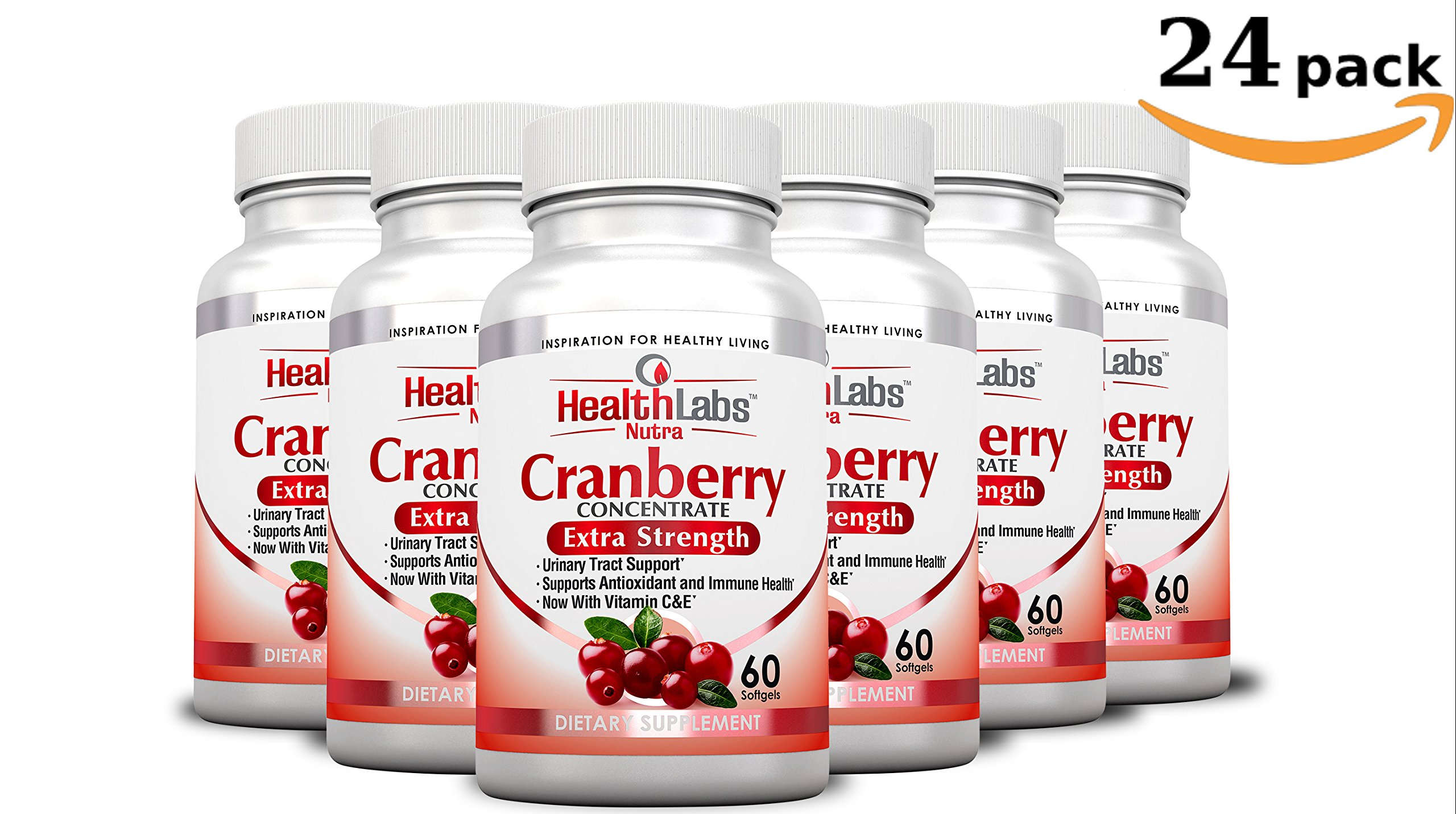 Health Labs Nutra 50:1 Triple-Strength Cranberry Concentrate 24-Month Supply with Vitamins C & E – Promotes Urinary Tract and Immune Support- (Pack of 24)