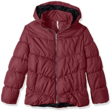 87a83b03a9a Amazon.com  Pink Platinum Women s Plus Size Polyfill Puffer  Clothing