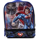Batman Vs Superman Dual-Compartment Childrens Kids Boys Girls Insulated Lunch Box School Picnic Bag