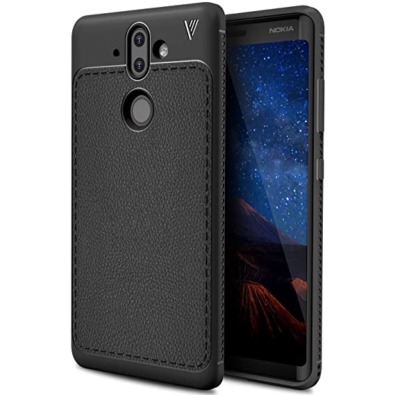 finest selection a1630 4fde1 Nokia 8 sirocco case, KuGi Nokia 8 sirocco case, SS [Scratch Resistant]  Premium Flexible Soft Anti Slip TPU Case for Nokia 8 sirocco  smartphone(Black)