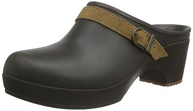 crocs Neria Pro Clog, Damen Clogs, Schwarz (Black), 38/39 EU