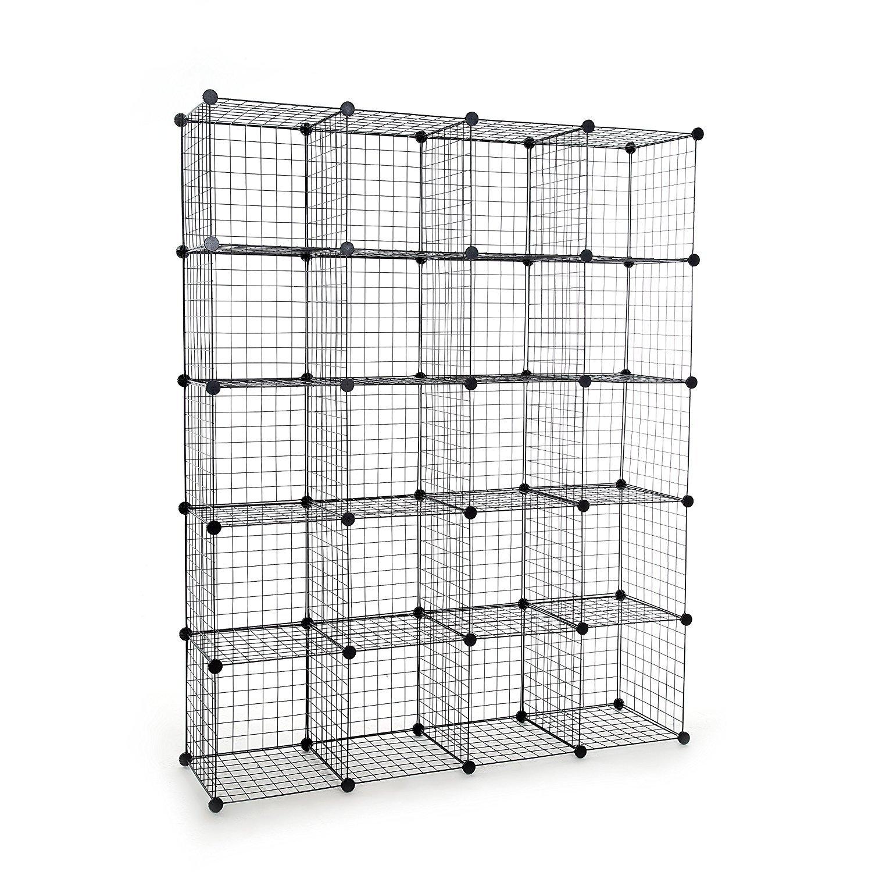 Tespo Metal Wire Storage Cubes, Modular Shelving Grids, DIY Closet ...