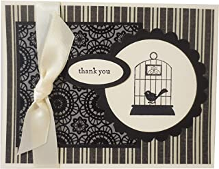 product image for Handmade Thank You Note, Single Card, Black and White