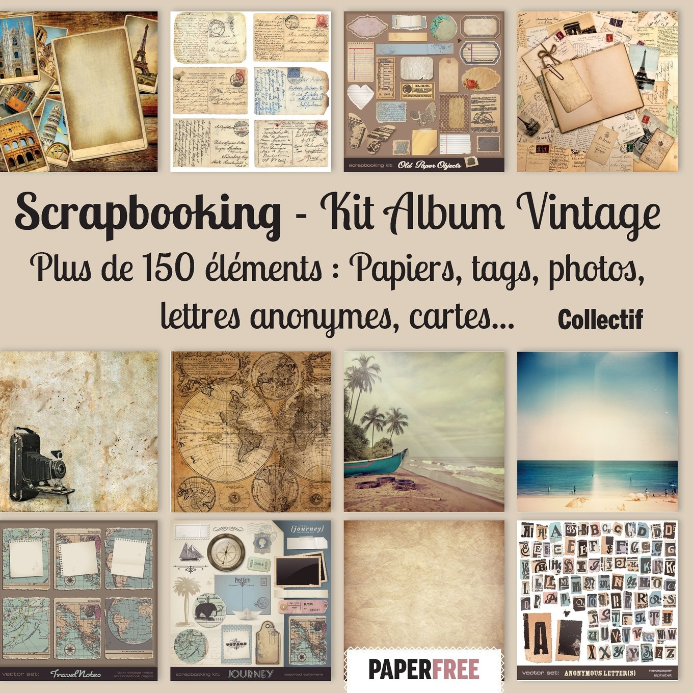 Scrapbooking Kit album vintage: Amazon.es: Collectif: Libros en idiomas extranjeros