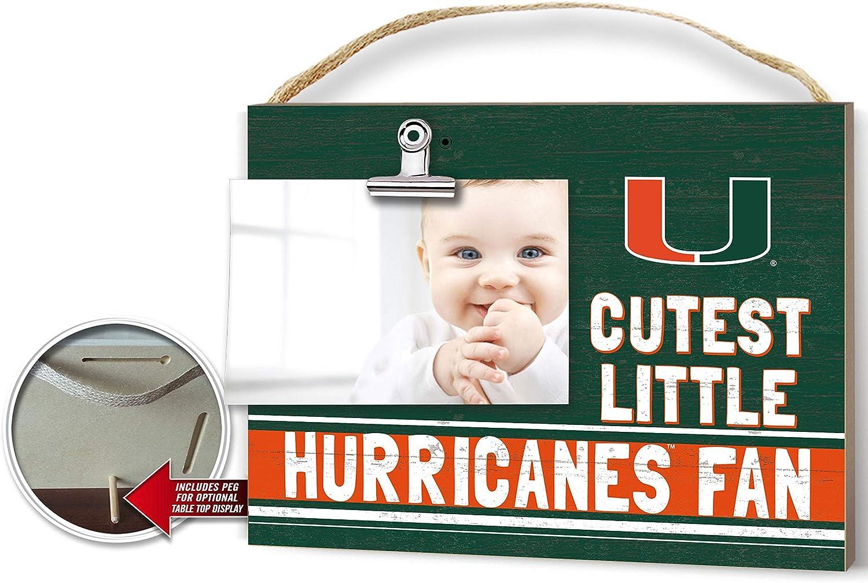 KH Sports Fan Miami Hurricanes Clip It Team Color Baby Logo Photo Frame, Multi