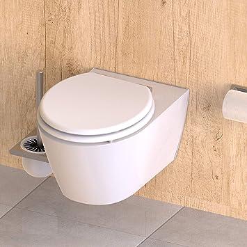 WC Sitz mit Holzkern und Absenkautomatik MDF Weiß ED09010SC