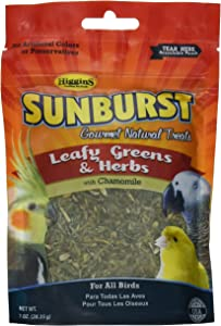 Higgins Sunburst Leafy Greens & Herbs Gourmet Treats All Birds
