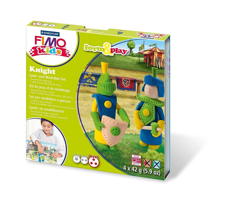 Staedtler- STAEDLER Fimo Kids Form&Play Cavalieri Scuola Cartoleria, Multicolore, 8034 05 LY MAG_77-J0I8-9Q4T