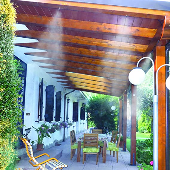 IDROBASE Hidrobase Primavera Sistema de enfriamiento programable Desde Smartphone para 14, 25 m. lineales: Amazon.es: Jardín