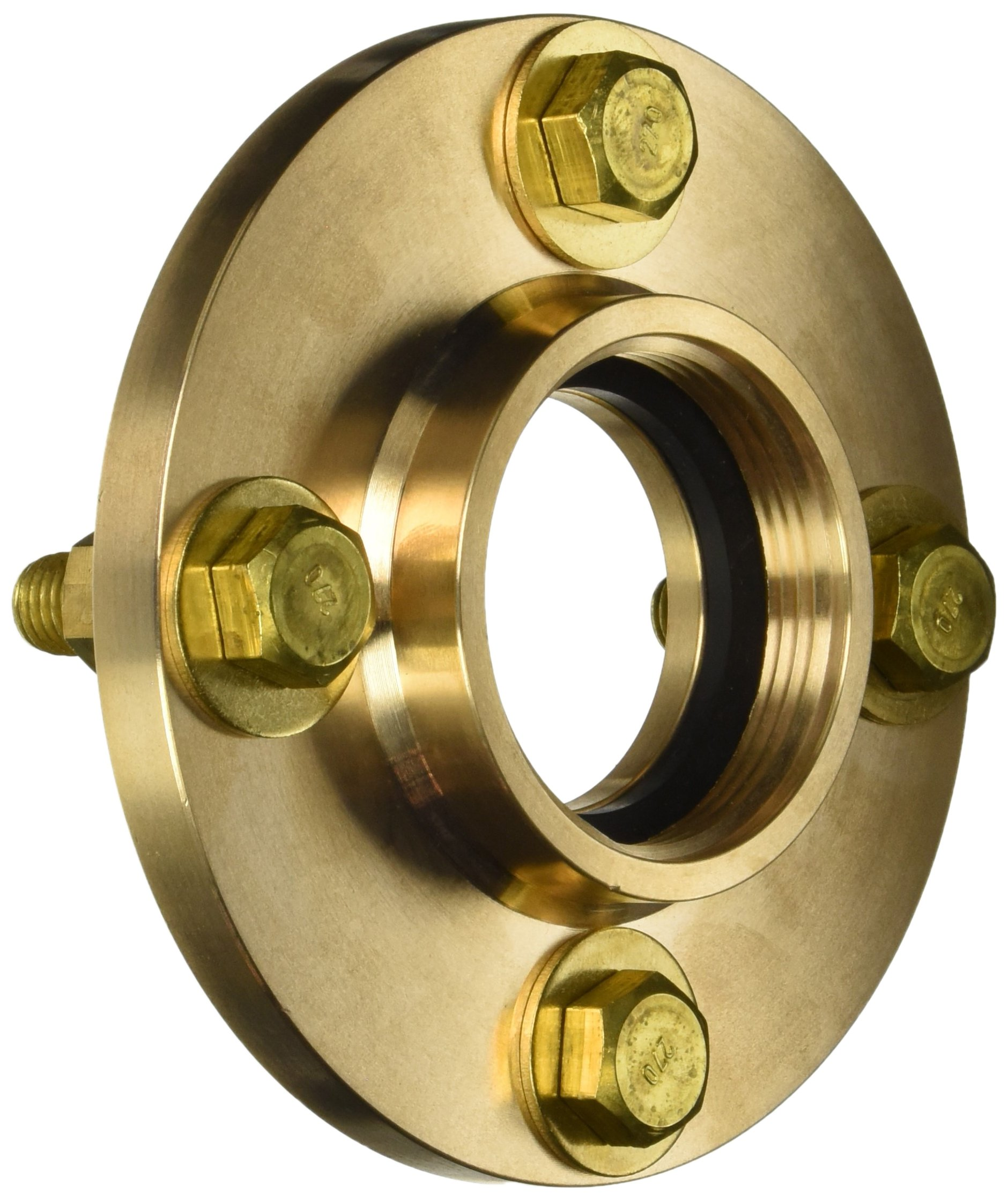 Dixon 09-318-00001 Brass Shore Connection, 7'' OD Shore Side, Brass Flange with 4-3/4'' Holes, 7''