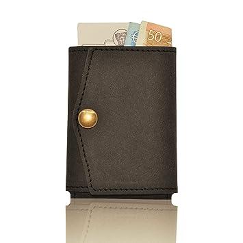 Leather Credit Card Holder Black for 15 Cards