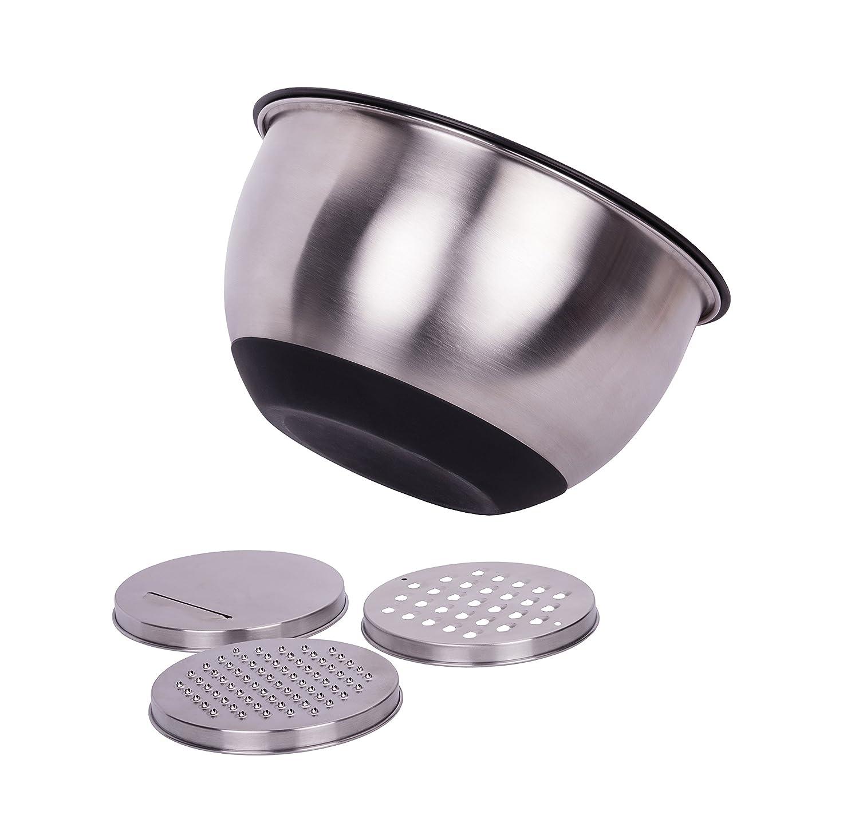 Mélange Bol en acier inoxydable avec éclaboussures et râpes Ethos Houseware