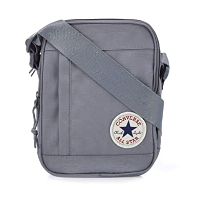 9eb6136546e2 Converse Men Grey Logo Applique Cross Body Bag One Size  Converse ...