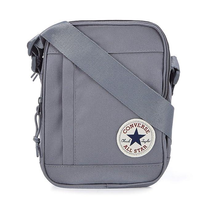 7e649f0dd Converse Men Grey Logo Applique Cross Body Bag One Size: Converse ...