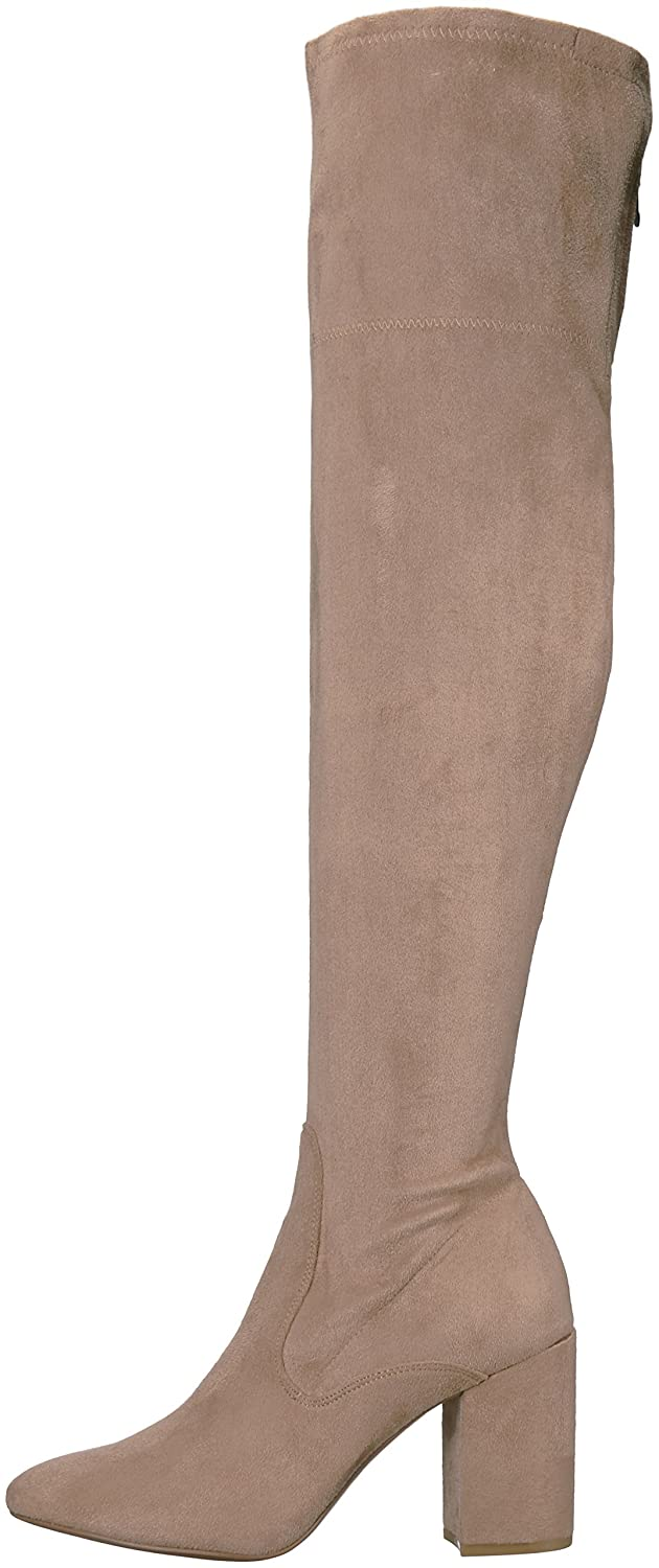 Kenneth Cole New York Women's Carah Knee High Tall Stretch Engineer Boot B071L2KT3N 11 B(M) US|Almond