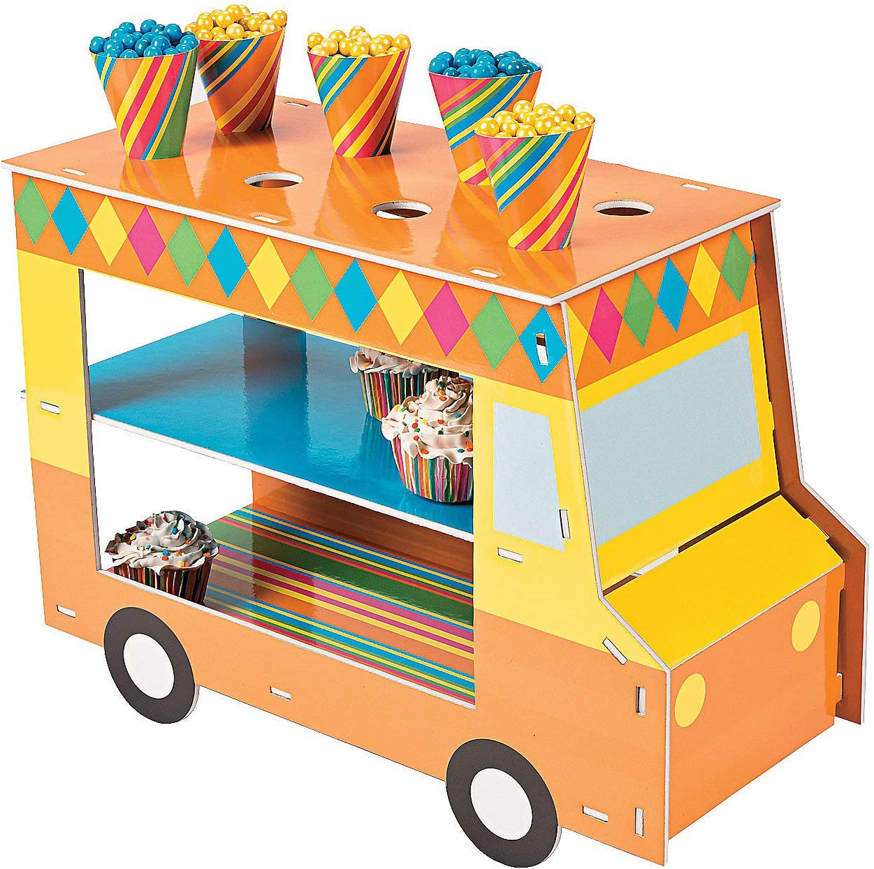 Food Truck Cupcake Treat Stand - Food Truck Party Supplies (includes treat cones)