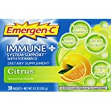 Emergen-C Immune + Citrus 30 Count, 0.31 Oz each, Net WT 9.3 Oz.