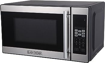 Black + Decker 0.7 Cubic Foot 700 Watt Stainless Steel Microwave