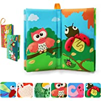 TUMAMA Activity Books Baby Toddler Toys, 3D Crinkle Sound Book Touch and Feel Real Animals, Soft Cloth Book Sets for…