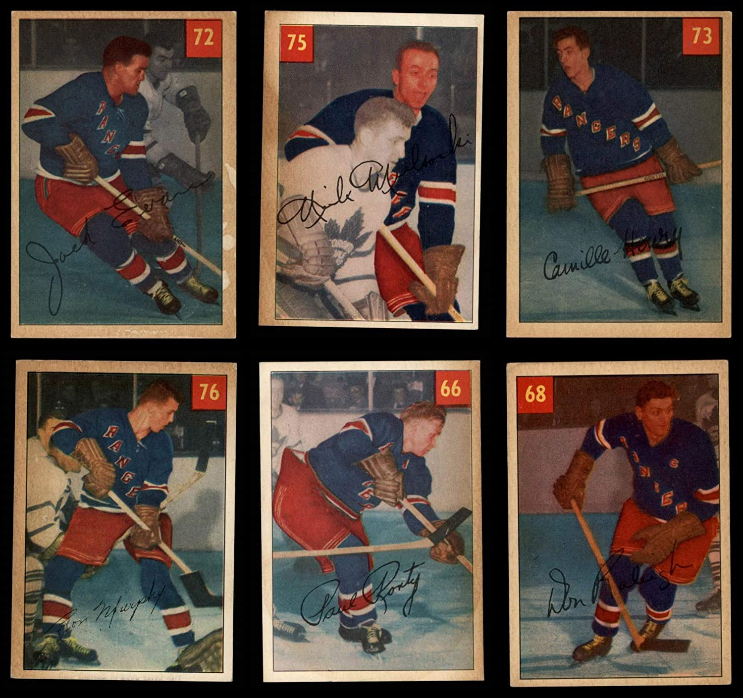 1954-55 Parkhurst New York Rangers Near Team Set New York Rangers - Hockey (Baseball Set) Dean's Cards 5 - EX Rangers - Hockey 81jfYGuWbnLSL1500_
