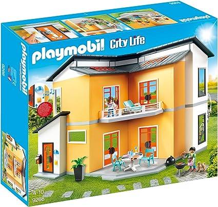 Amazon.com: PLAYMOBIL Moderno conjunto de construcción de ...